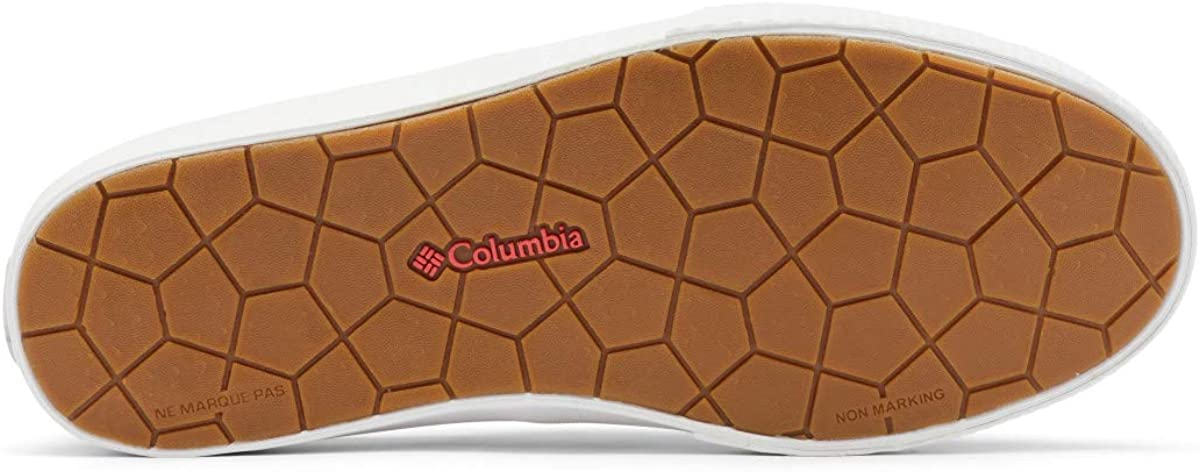 Slate Grey//Red Coral 5 US Columbia womens Slack Water Pfg Slip Boat Shoe