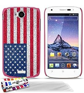 Carcasa muy fino original de MUZZANO el diseño de la bandera de Estados Unidos de América para WIKO CINK PEAX 2