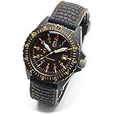 Montre Lumi Time, bracelet cuir (Ø) 4.1 cm noir Matériau bracelet=Cuir