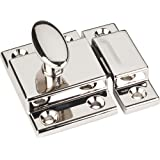 Jeffrey Alexander CL101 Mechanical Cabinet Latch and Strikeplate, Polished Nickel