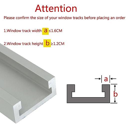R/églable coulissante Serrure de fen/être cadre de porte Stopper Wedge fen/être de s/écurit/é enfant Verrou de s/écurit/éSerrure de s/écurit/é de cadre de porte dalliage daluminium avec des cl/és