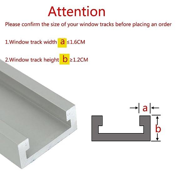 WANYI 4PCS Cerradura de seguridad para ventana corredera ajustable, Bloqueo Para Ventanas Correderas Antirrobo, marco de puerta con cerradura de aleación de ...