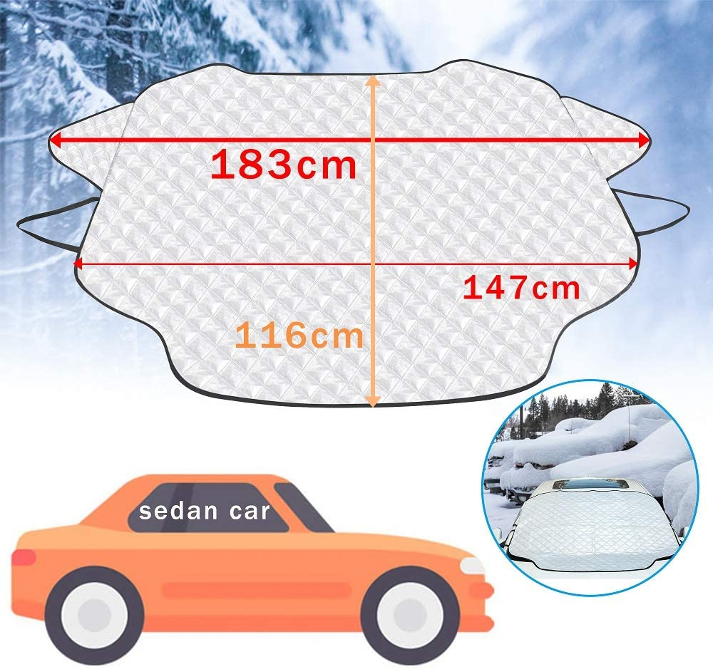 PARAWEYSE Car Windshield Sunshade UV Reflector Auto Front Window Sunshade Visor Shield Cover,Large 49 /× 62