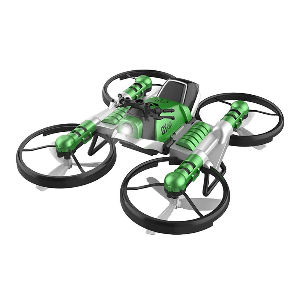 HHoo88 Unique 2-in-1 Folding RC Drone Motorcycle Multi-Function Vehicle, Portable Mini Unmanned Aerial Quadcopter Best Xmas Gifts for Kids Christmas (Green, WiFi FPV Remote Control) by HHoo88