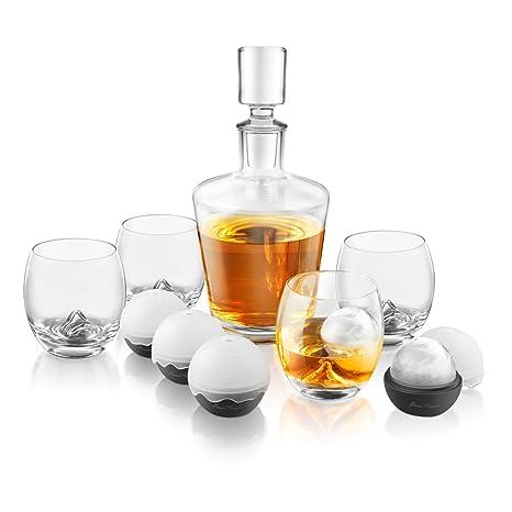1d25646fd1 Final touch, set bottiglia e bicchieri per whisky con ghiaccio. Set  10pezzi