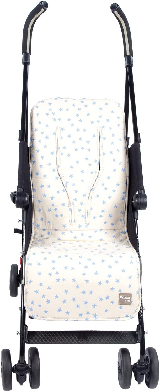 Colchoneta para silla de paseo Walking Mum Estrella color beige//azul