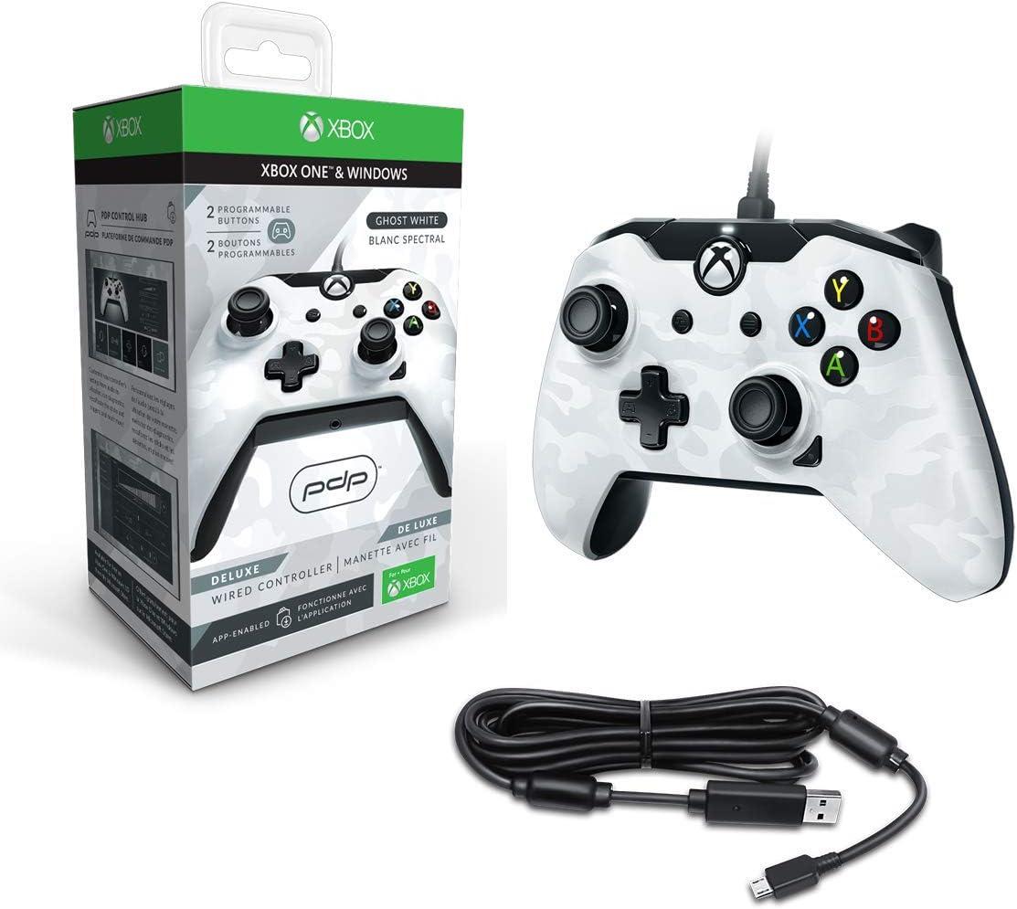 PDP - Mando Deluxe con Cable, Camo Blanco (Xbox One): Amazon.es: Videojuegos