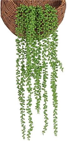 XONOR artificielles Plantes succulentes Faux Suspendu cha/îne de Perles Amant Artificiel Larmes Plantes pour la Maison Bureau de Mariage f/ête de Jardin d/écoration 4 pi/èces