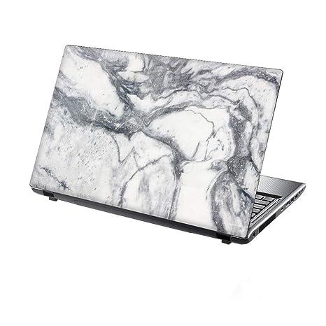 TaylorHe Folie Sticker Skin Vinyl Aufkleber mit bunten Mustern für 15 Zoll 15,6 Zoll (38cm x 25,5cm) Laptop Skin weiße Marmor