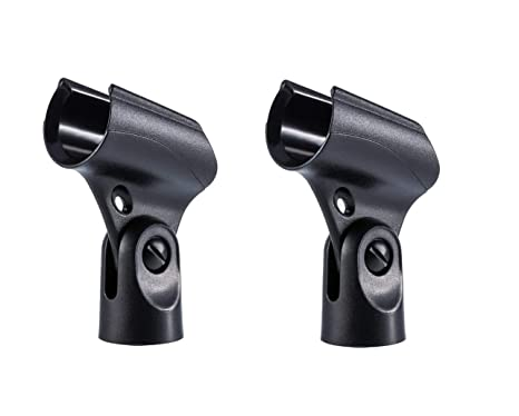 Amazon com: BOLY 2 Pcs Mic Clip Clamp Holder Fit for shure
