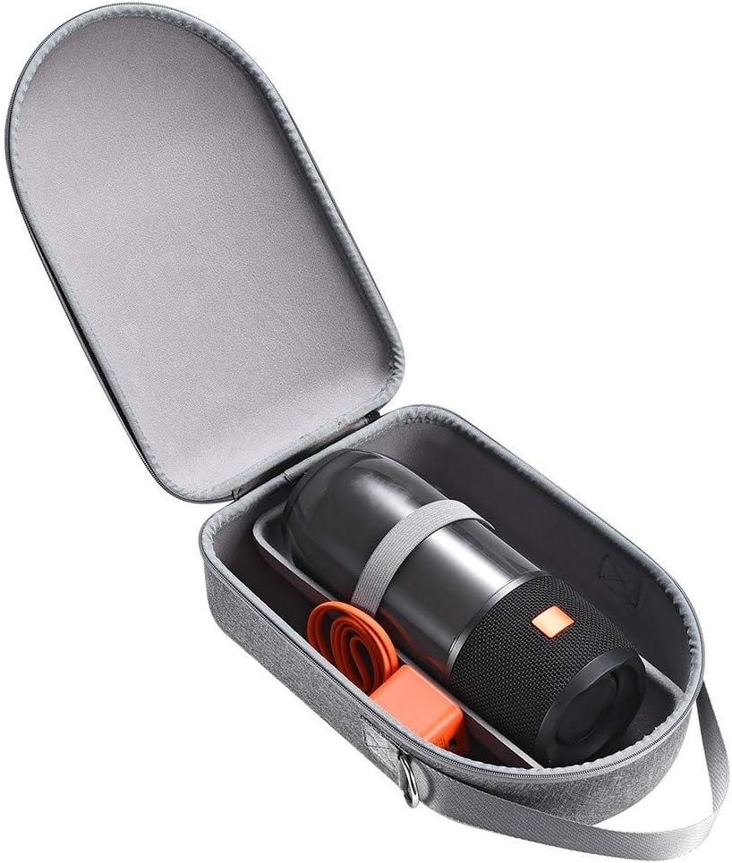giokfine Hard Carry Case Storage Bag Protective Bag Shell Shoulder Strap Travel Case for JBL Charge 3//4 Pulse 3//4 Wireless Bluetooth Speaker Gray