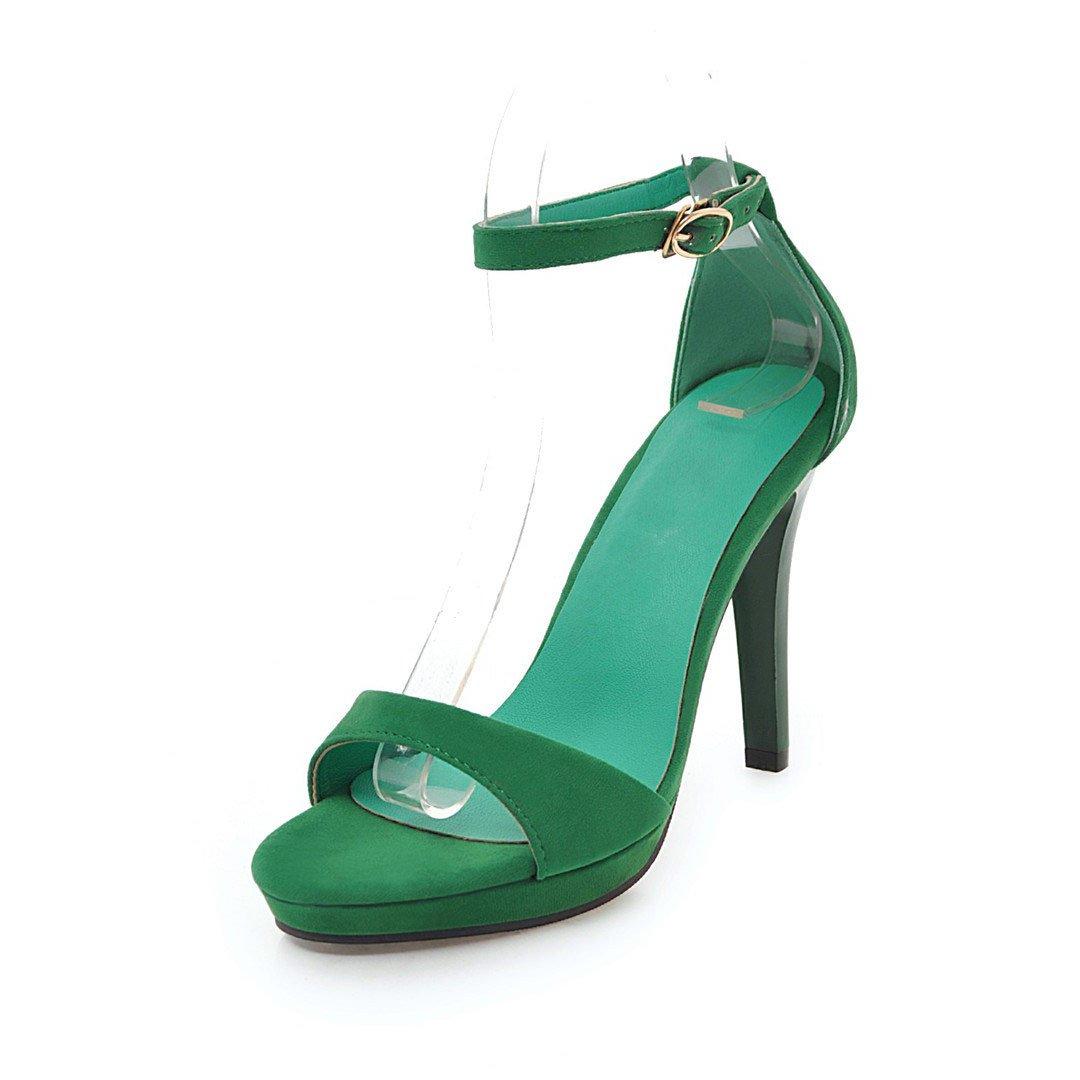 QIN&X Sandales Sandales Femmes Talons Aiguilles B01M9G3LC3 à Chaussures à Lanières Parti Green 8eb4630 - automaticcouplings.space