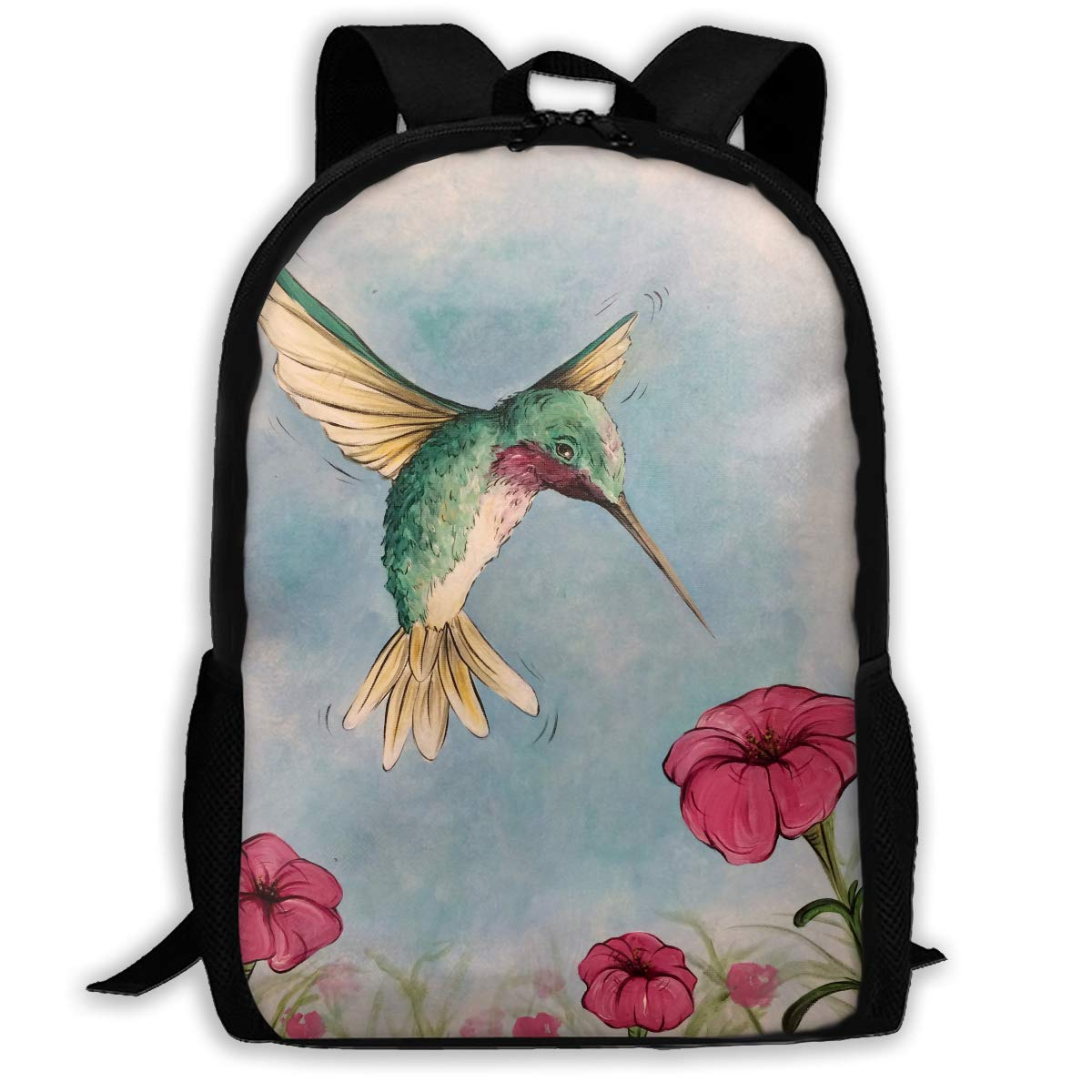 qihaoshangmao Backpacks Girl'S Shoulder Bag Schoolbags School Season Humming Bird Hovering Hummer Traveling Bags