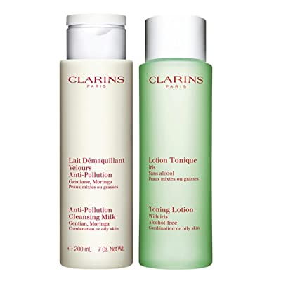 CLARINS CLEANSING MILK FOR OILY SKIN 200 + TONING LOTION 200ML