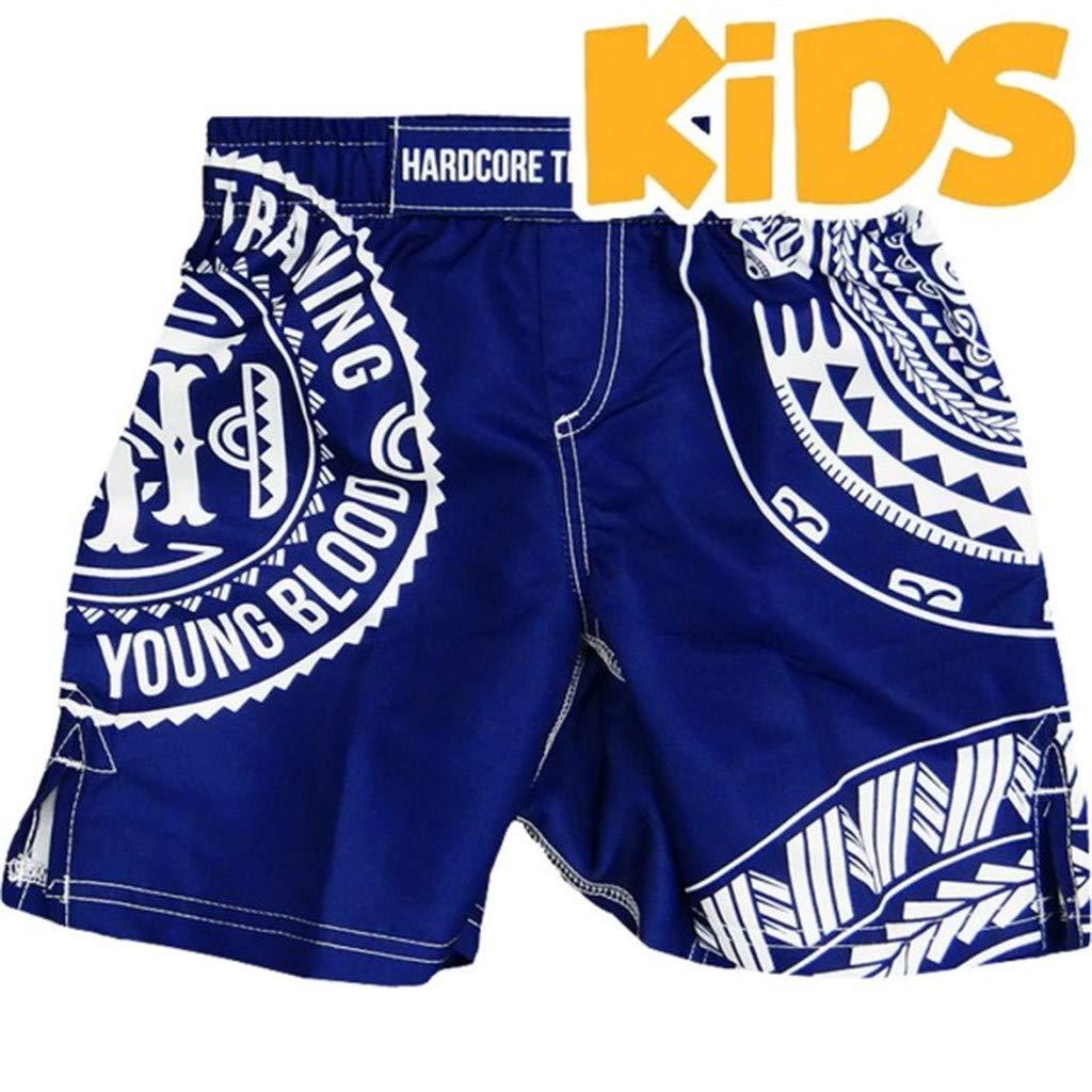 Hardcore Training Kids Sport Shorts Ta Moko - for Boy - Kids Sport Wear Blue by Hardcore Training