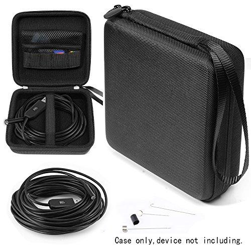 WGear endoscope case for Depstech Wireless, USB, Wireless Borescope, AKASO, iksee, BlueFire, Mousand, Fantronics, ROTEK, mesh pocket for side mirror, hook etc