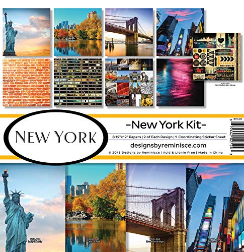 Reminisce (REMBC) NYO-200 New York Scrapbook Collection Kit, Multi Color Palette (New Scrapbooking York)