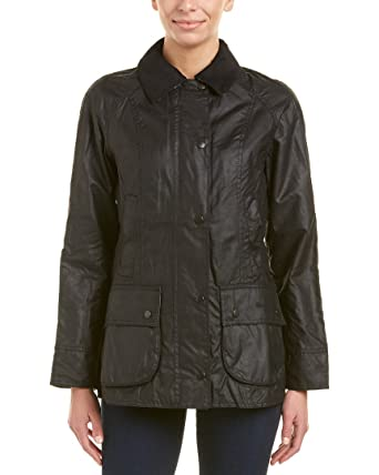 large discount top design online here Amazon.com: Barbour Womens Beadnell Wax Jacket, 14, Black ...