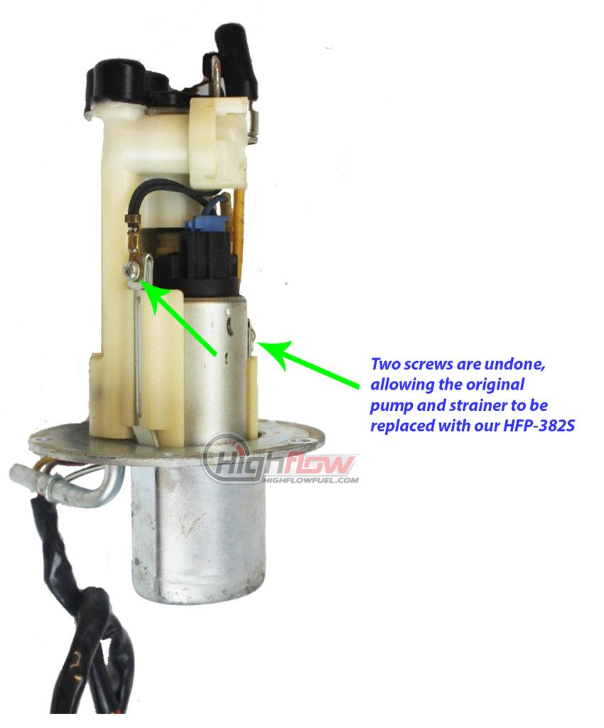 Replaces 15100-35F20 15100-01H00 HFP-384-U Fuel Pump with Strainer Replacement for Suzuki GSX-R600//GSX-R750 EFI 2000-2003 15100-29G00 15100-35F00