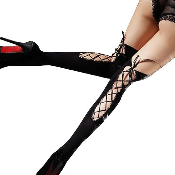 Malloom Sexy Women Bandage Socks Thigh-highs Stockings Pantyhose Nightclub Ba.