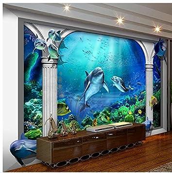 Mznm Papier Peint Photo Personnalisé Muraux De 3d Wallpaper Sea