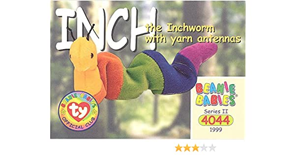 w//Yarn Antenna Series 2 Common INCH the Inchworm TY Beanie Babies BBOC Card