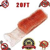 "Haierc Copper Mesh for Mouse Rat Rodent Control, Snake Control,Snail Repel Control, Bat Control,Insect Control,5"" x20FT, 100% Copper"