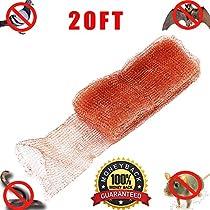 Haierc Copper Mesh for Mouse Rat Rodent Control, Snake Control,Snail Repel Control, Bat Control,Insect Control,5 x20FT, 100% Copper