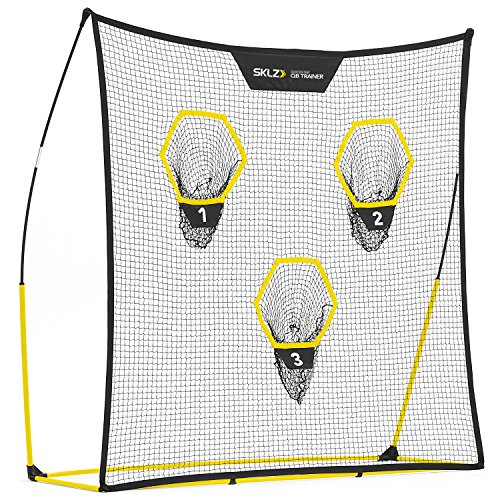 SKLZ Quickster QB Football Trainer Net w/ Target. Ultra-Portable, Quick Setup. 7