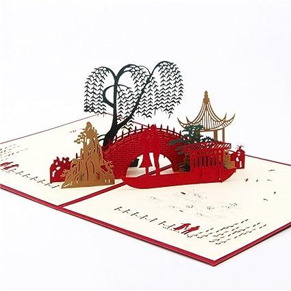 Transer 3D Pop Up Cards Wedding Lover Happy Birthday Anniversary Greeting E Multicolor