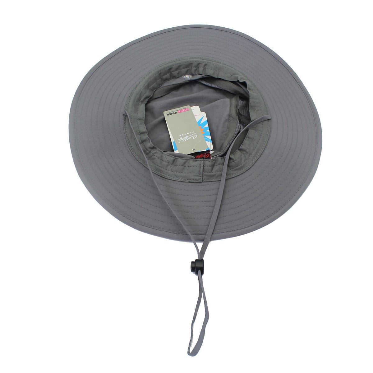 UV Protection Sun Cap Outdoor Bucket Mesh Hat 56-61cm EONPOW Windproof Fishing Hats UPF50