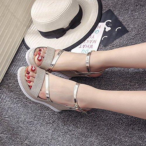 Chaussures Pour Haut Catch Sauvages Taiwan Une La 35 Mode Boucle Fminine Talon Yalanshop Or Impermables D'oreille q4zxXwnA