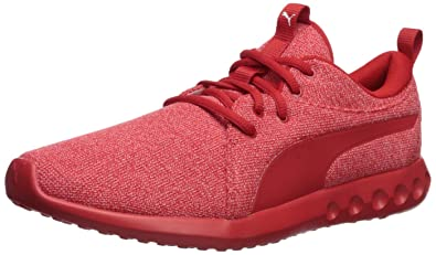 PUMA Men s Carson 2 Knit Sneaker high Risk red 7 ... dc0738bc2