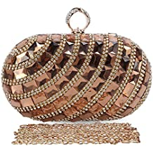 Chichitop Women's Luxurious Crystal Rhinestone Evening Clutch Purse Party Handbag