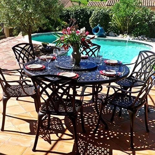 Lazy Susan - Table Ronde 150 cm Frances, 6 chaises de Jardin ...