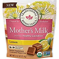 Traditional Medicinals Mother's Milk Lemon Lactation Chews, 14 Count (Pack of 1)