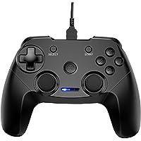 CHEREEKI Mando PC, Mando PC Game Mando Gamepad Joystick con Dual Shock Recargable para Playstation 3 y PC Windows 10 XP…