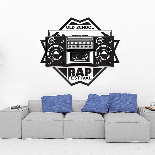 JXND 66x57cm Rap Festival Studio Music Wall Stickers Room Tatuajes ...