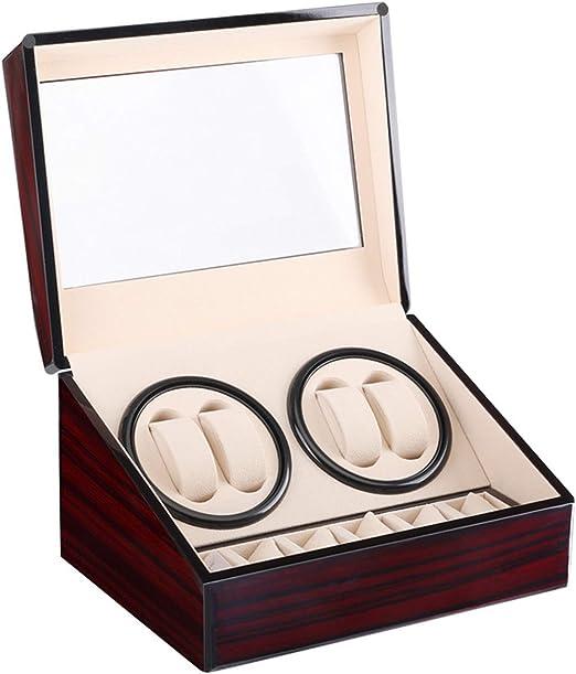 Caja giratoria para Relojes automatico Watch Winder Madera de Reloj de Pulsera: Amazon.es: Relojes
