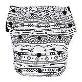 night inserts - EcoAble Big Kid Convertible 3-in-1 Cloth Diaper Hybrid w/Pocket & Insert: Everyday Use, Swim or Potty Training (Size 3/35-60Lb, Black Arrow)