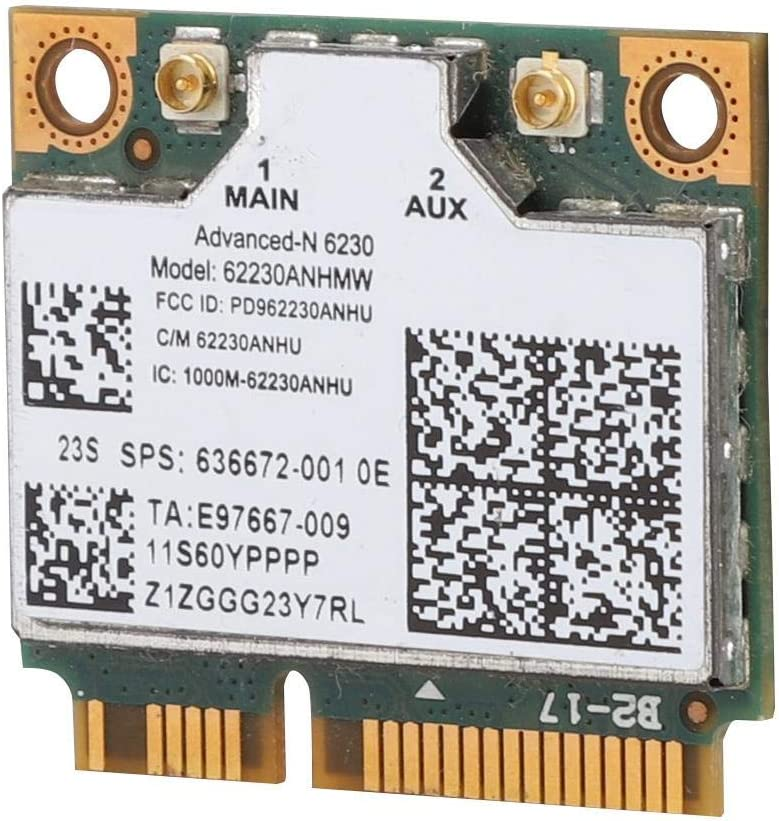Wireless Network Card for Intel 6230AN 62230ANHWM 300M Dual Band Wireless LAN Card Bluetooth Connection,Wireless LAN Network Card for Lenovo U310//HP4230S//ENVY14 ASHATA Network Card for Intel