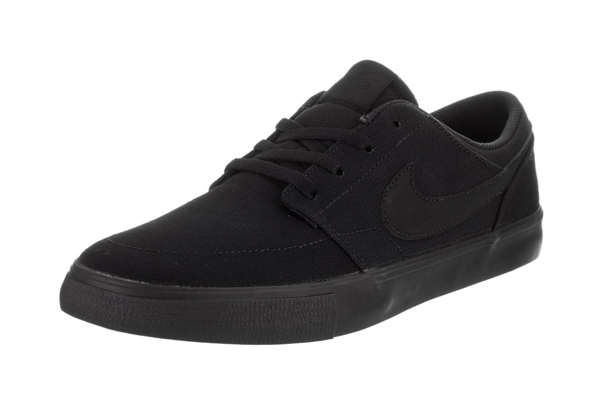 NIKE Men's Sb Portmore Ii Solar Ankle-High Canvas Skateboarding Shoe B01K3N69ZS 8.5 D(M) US|Black/Black