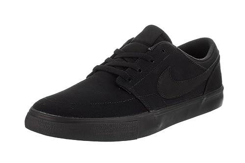 more photos 6a94e 9336d Nike SB Portmore II Solar Cnvs, Zapatillas de Skateboarding para Hombre, Negro  Black 001