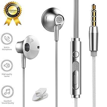 Auriculares, TELEV Auriculares In-Ear Estéreo con Micrófono y Control para iPhone, iPad