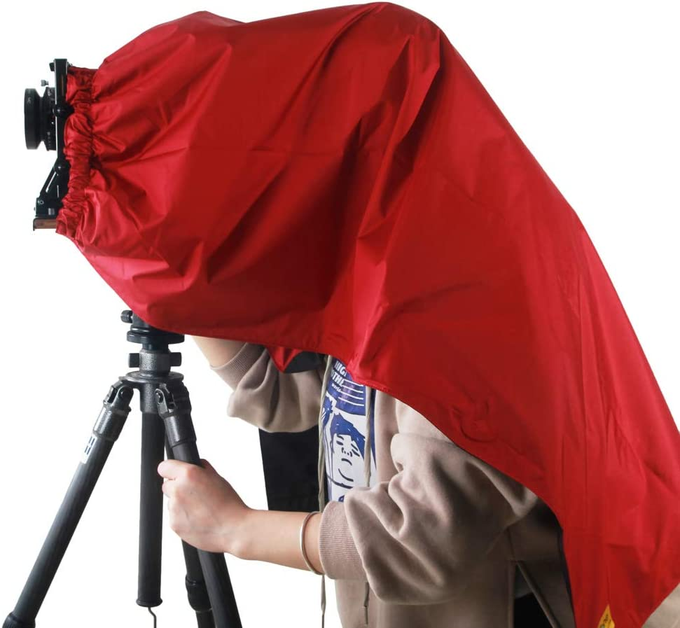 eTone Red Black Professional Focusing Hood Dark Cloth for 4x5 Large Format Camera Warpping Protection