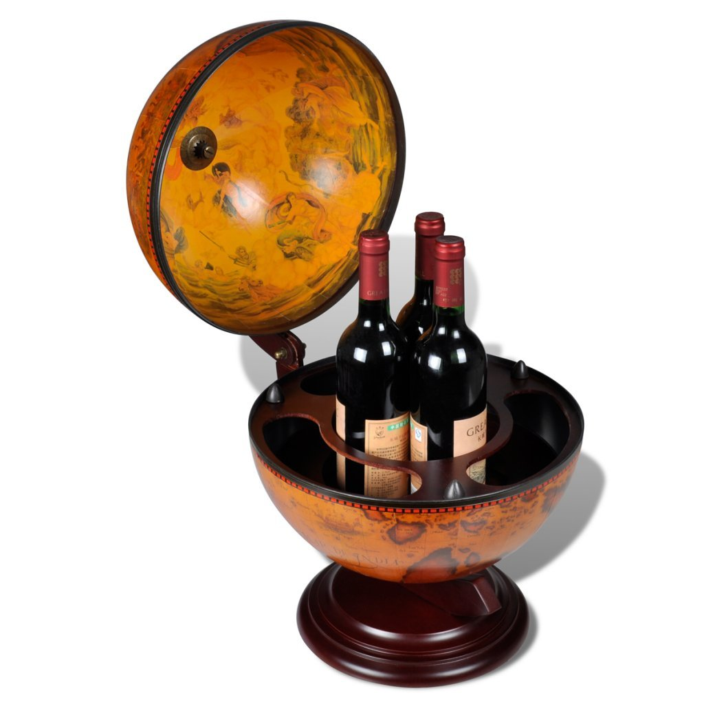 Amazon.com: Daonanba Practical Tabletop Bar Globe With Embowed Stand Wine  Liquor Table Stand Decoration: Kitchen U0026 Dining