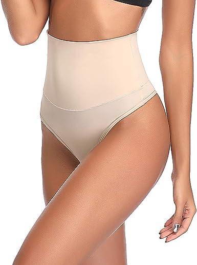 SEXYWG Hi-Waist Shapewear Thong Control Knickers Tummy Control Body Shaper Butt Lifter Boyshorts Slimming Seamless Briefs