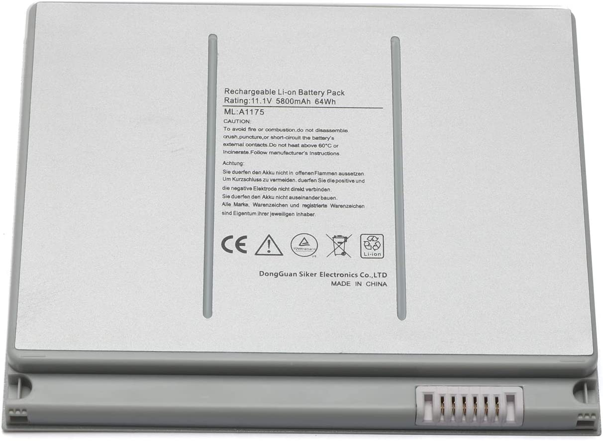 "Novelty A1175 Laptop Battery for Apple MacBook Pro 15"" inch A1260 A1150 A1211 A1226 (only for 2006 2007 2008 Version) MA348 MA348/A MA348G/A MA348J/A Laptop Notebook-Li-ion 5800mAh/ 6Cell"
