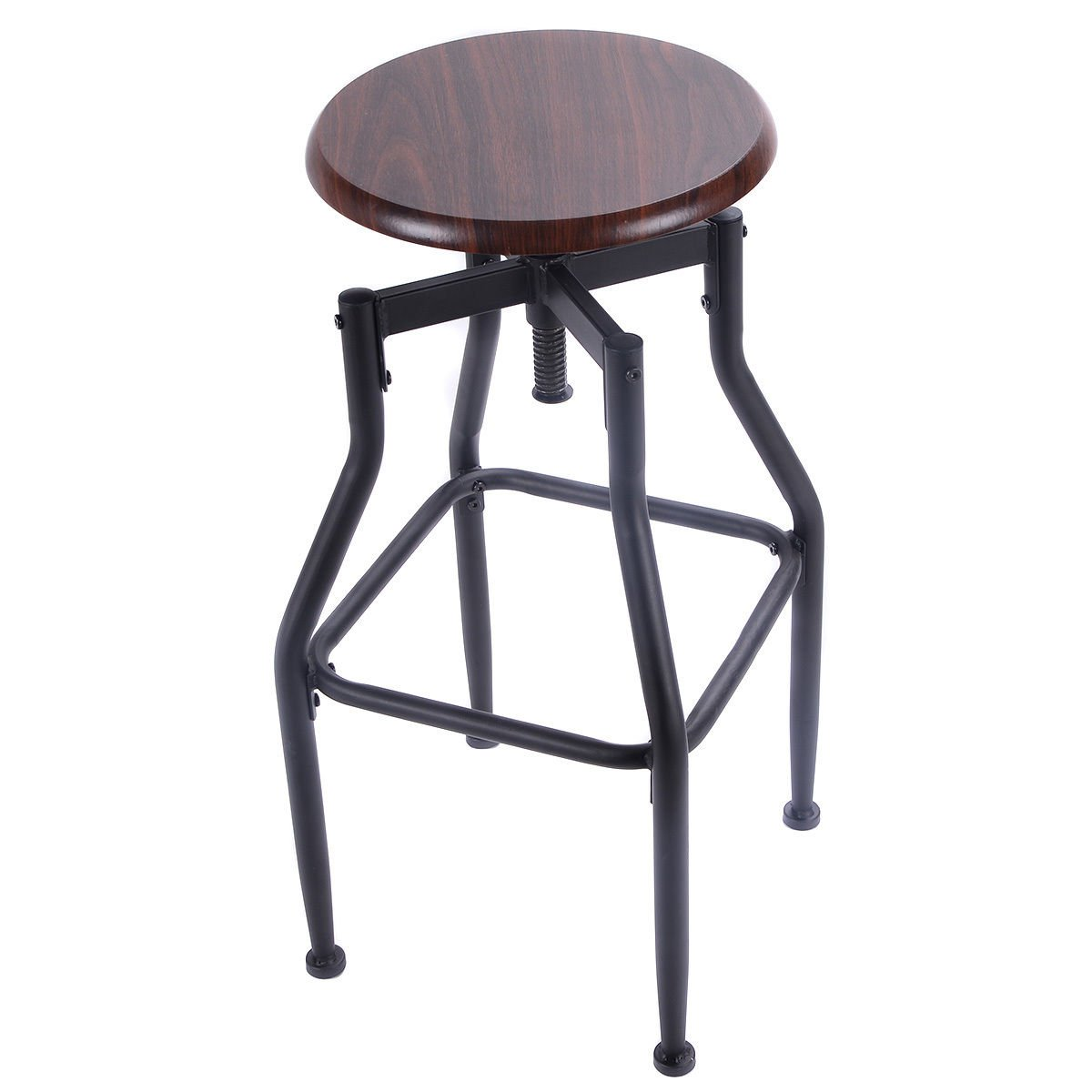 Amazon.com Costway Vintage Bar Stool Metal Design Wood Top Barstool Adjustable Height Swivel Industrial Kitchen u0026 Dining  sc 1 st  Amazon.com & Amazon.com: Costway Vintage Bar Stool Metal Design Wood Top ... islam-shia.org