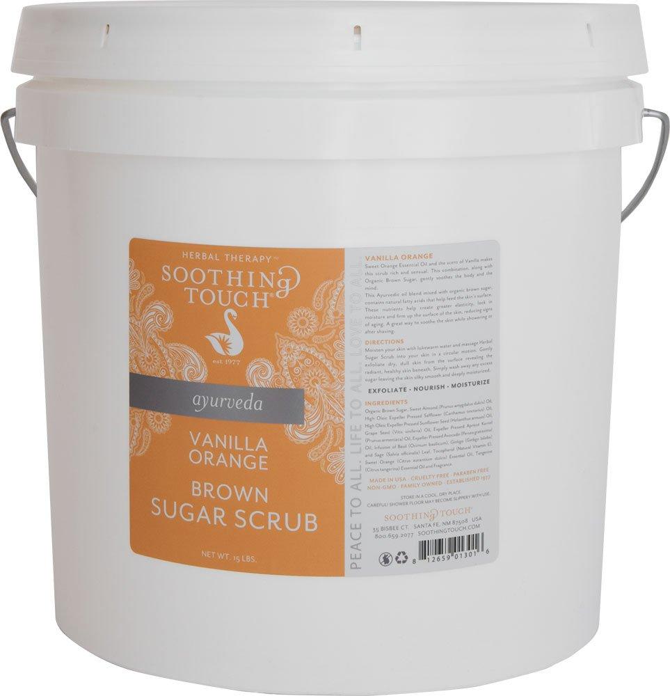 Soothing Touch Brown Sugar Scrub, Vanilla Orange, 15 Pound